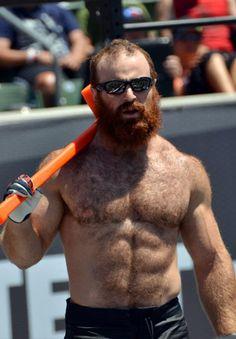 hairy man